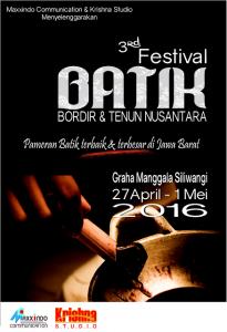 Festival - Festival Batik Bordir Dan Tenun Nusantara ( 27 April-01 Mei 2016 )