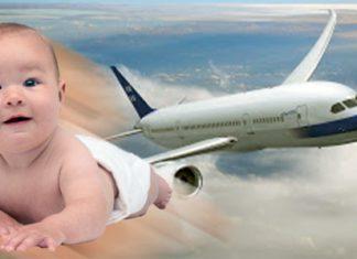naik pesawat bersama anak