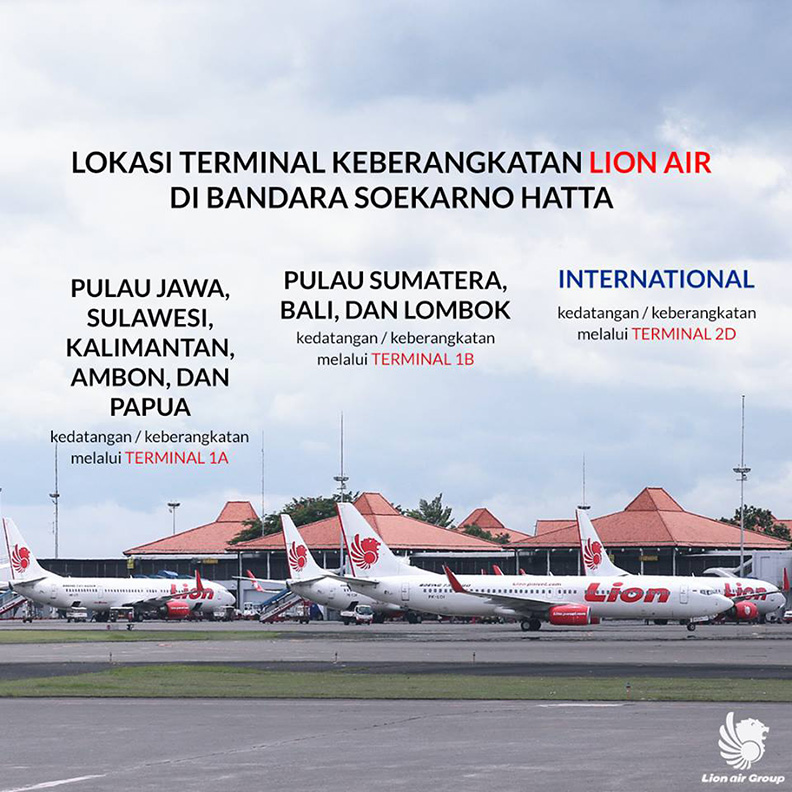 Lokasi Terminal Keberangkatan Lion Air