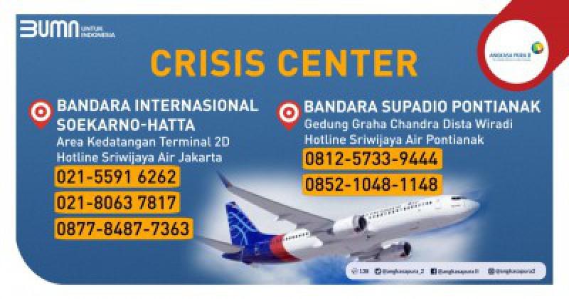 Informasi Posko Crisis Center di Bandara Soekarno-Hatta dan Bandara Supadio