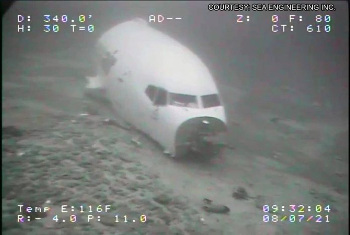 The National Transportation Safety Board (NTSB) has released underwater images o...